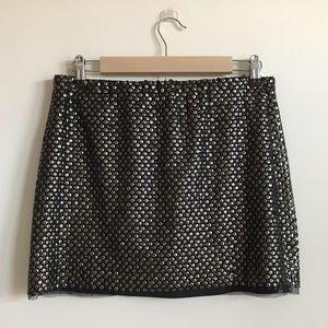 Zara Trafaluc Gold and Black Sequin Skirt Medium